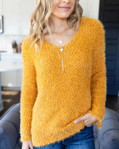 Fall Is Calling Knit Sweater - Mustard