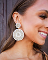 Fallon Beaded Earrings - White