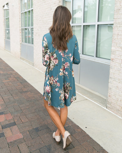 Feel The Love Dress - Teal