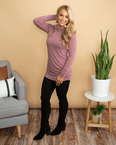 Feel The Connection Tunic - Mauve