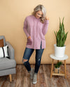 Feel The Love Hoodie - Mauve