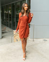 Feeling Flirty Dress - Rust