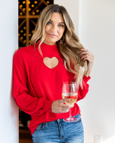 Feeling Loved Top - Red