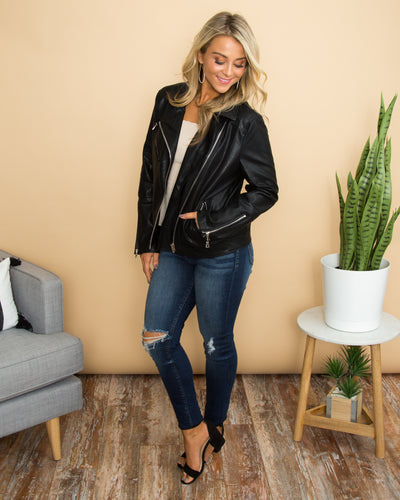Feeling Rebellious Jacket - Black