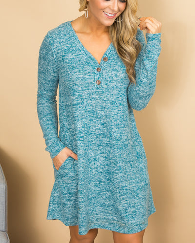 Feels Like A Dream Dress - Heather Blue