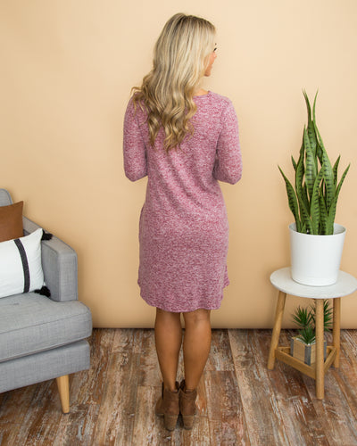 Feels Like A Dream Dress - Heather Red