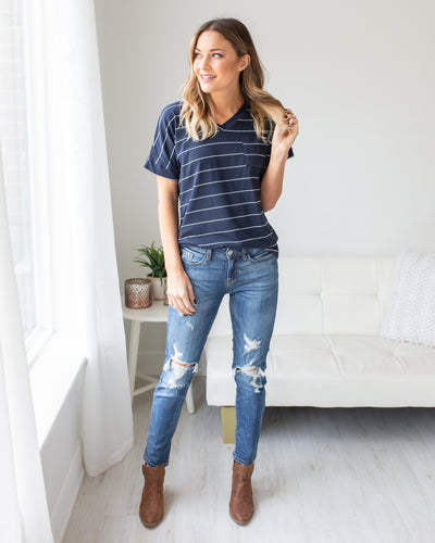 Feels Like Friday Top - Navy