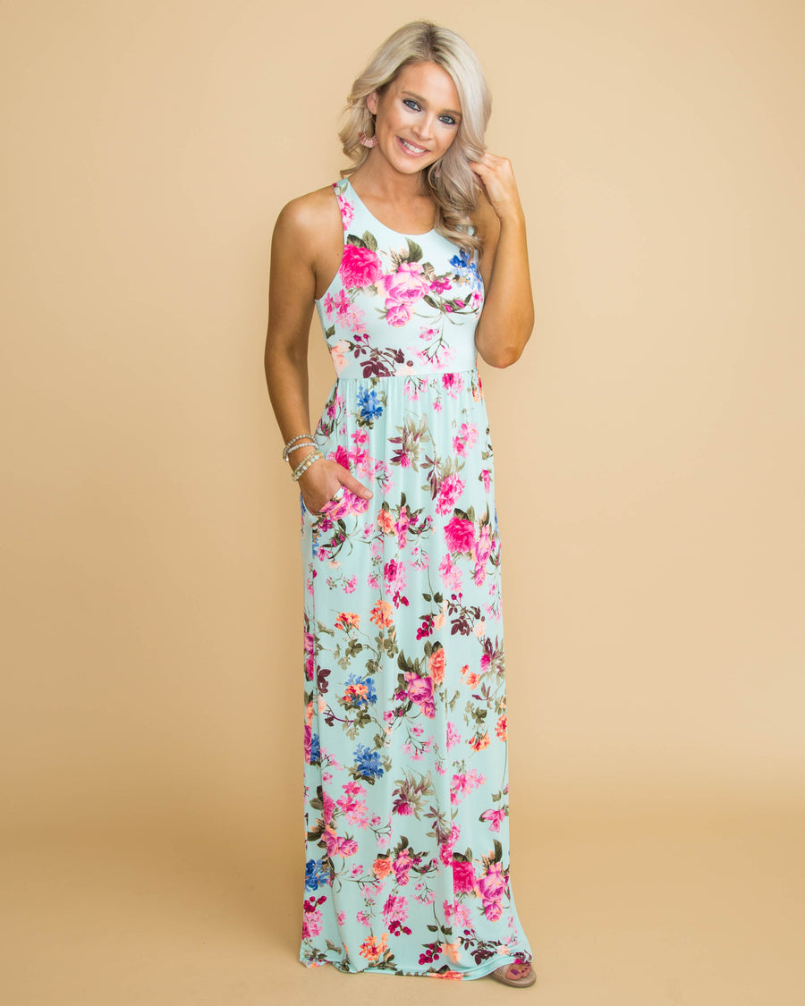 Fiji Infusion Maxi Dress - Mint