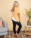 Find Your Peace Twist Back Top - Mustard