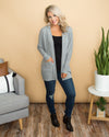 First To Know Cardigan - Grey