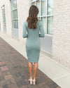 Flawlessly Flaunting Side Ruching Dress - Sage