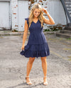 Follow Along With Me Dress - Navy