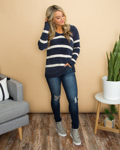 Follow That Feeling Sweater - Navy
