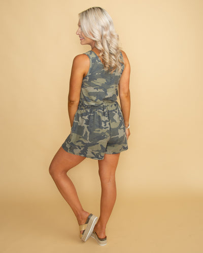 Follow Your Path Romper - Camo