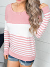 For Every Memory Stripe Top - Blush