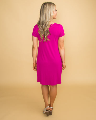 Forever Flawless Cutout Dress - Magenta
