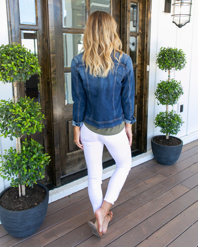 Friday Night Lights Denim Jacket - Dark Wash