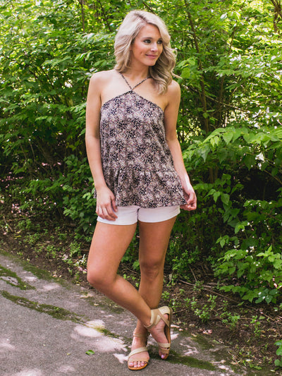 Running Through Wildflowers Tank - Black