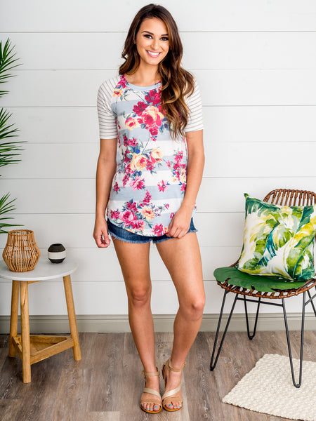 Gamble For A Rose Top - Multi