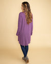 Getting Cozy Oversized Waterfall Cardigan - Purple