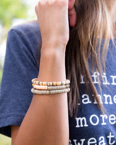 Gina Stackable Bracelet - Tan Multi
