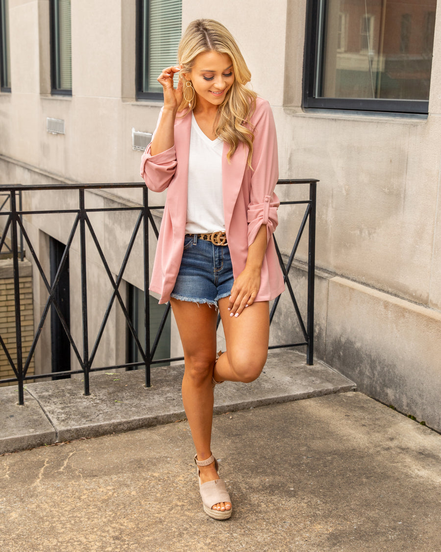 Girl Boss Blazer - Mauve