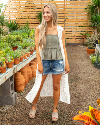 Girls Just Wanna Have Sun Crochet Duster - Ivory
