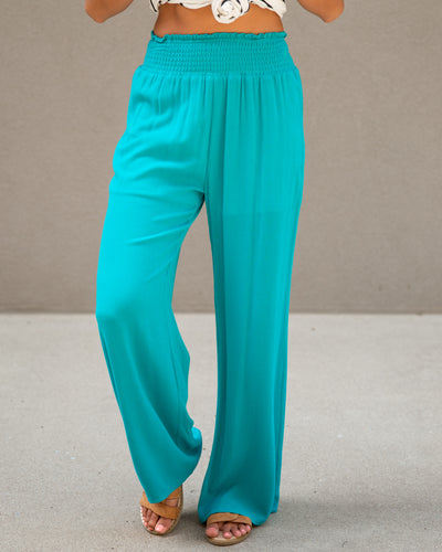 Go With The Flow Pants - Teal