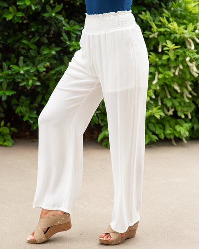 Go With The Flow Pants - White