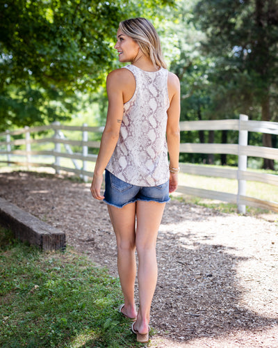 Going The Distance Tank - Beige