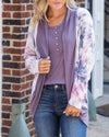 Good On My Own Cardigan - Lavender Multi