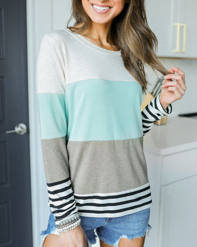 Graceful Moments Top - Seafoam