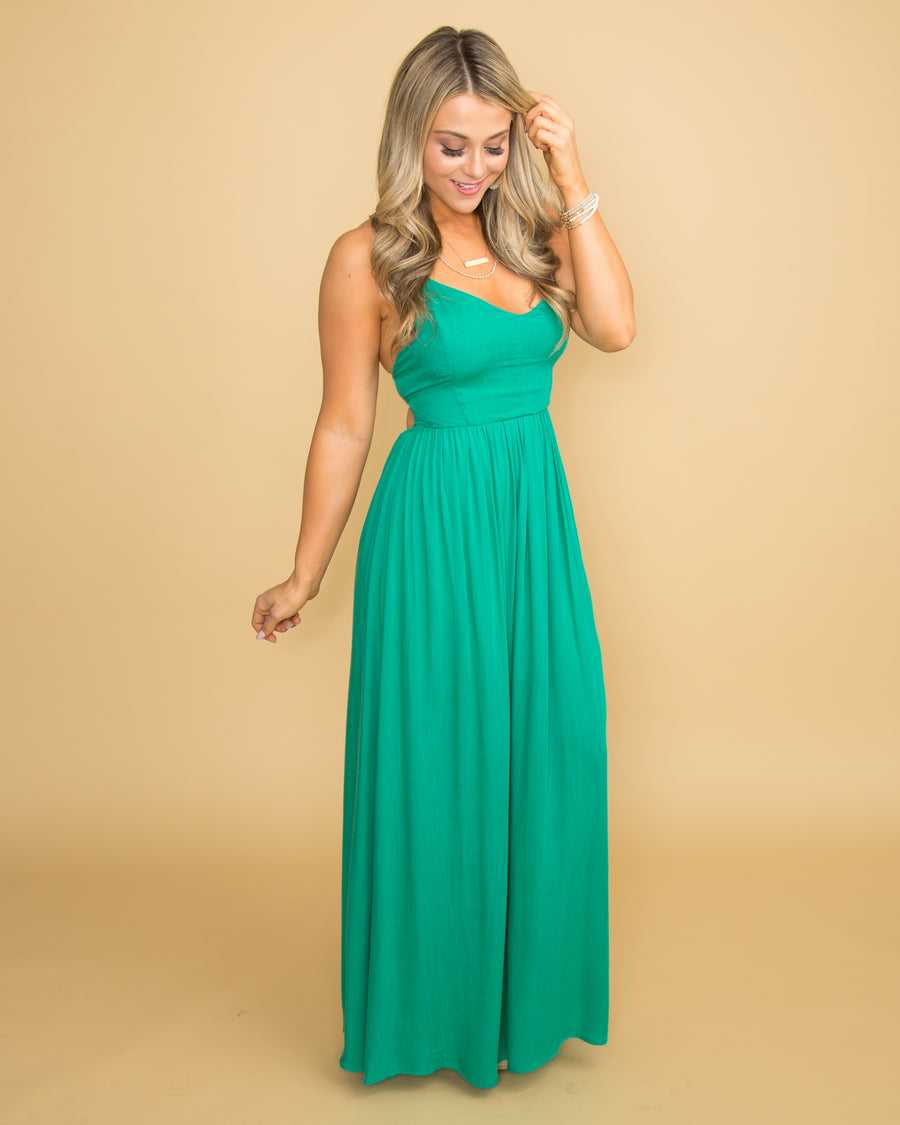 Green With Envy Maxi Dress - Jade