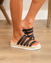 Gwynn Flatform Sandals - Black