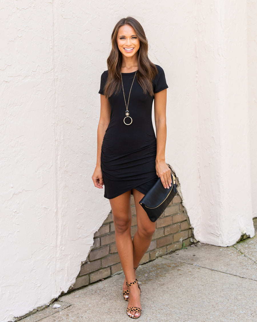 Had Me At Hello Dress -  Black