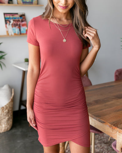 Had Me At Hello Dress - Marsala