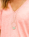 Halle Pendant Necklace - Mint