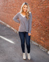 Happiness In Sight Top - Grey