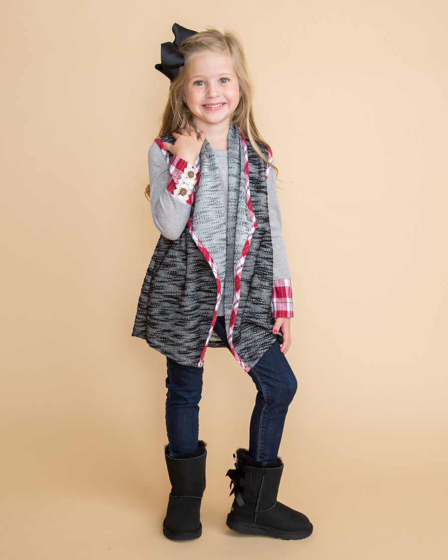 Harper Top & Vest - Grey