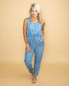 Has To Be Something More Jumpsuit - Chambray