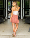 Head Over Heels Skirt (With Shorts) - Marsala