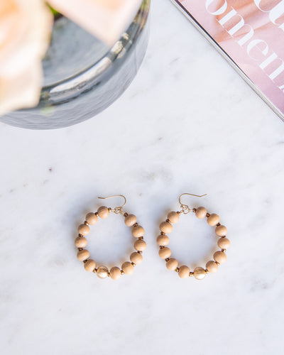 Heather Wooded Hoops - Natural