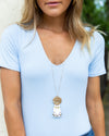 Heidi Tassel Statement Necklace - Ivory