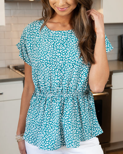 Hello Happy Hour Top - Teal