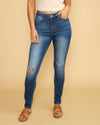 Hensley Distressed Skinny Jean - Medium Wash