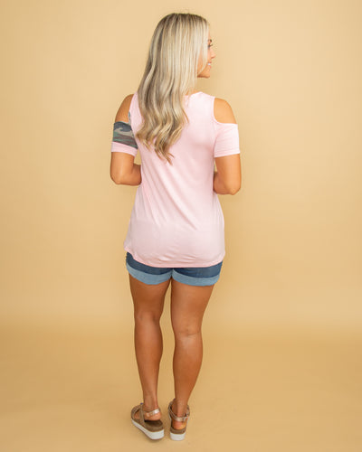 Here With You Again Color-Block Top - Pink