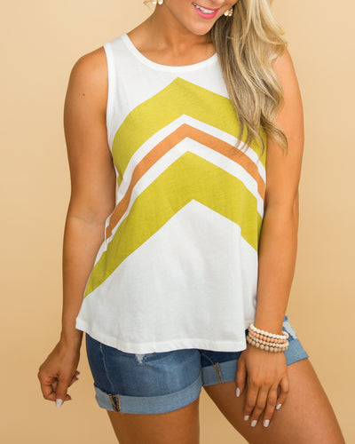 Here's The Truth Color-Block Top - Off White