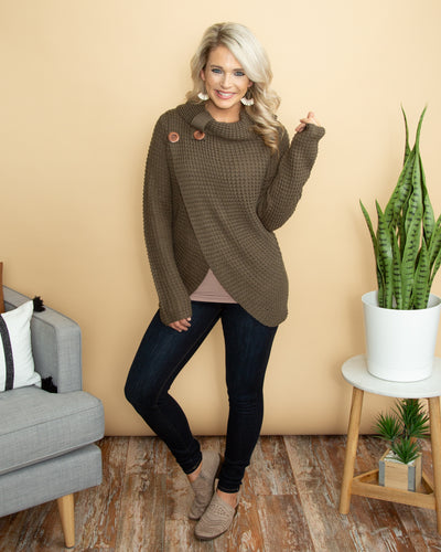 Higher Ground Sweater - Olive