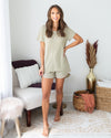 Hit Snooze Top - Light Olive