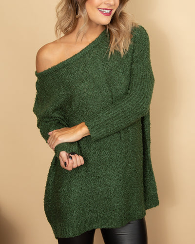 Home For The Holidays Sweater - Holly Green